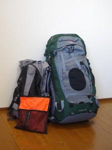 エベレスト・パノラマ・トレッキング荷物
