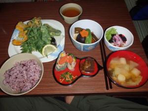 船窪小屋の夕食