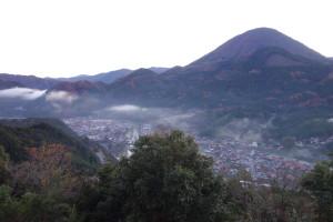 津和野城から見下ろした町並